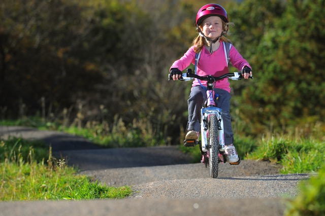 family mountain biking in wales